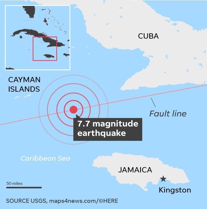 A 7.7 Magnitude Earthquake hits Jamaica - Tremors felt as far as Miami 54