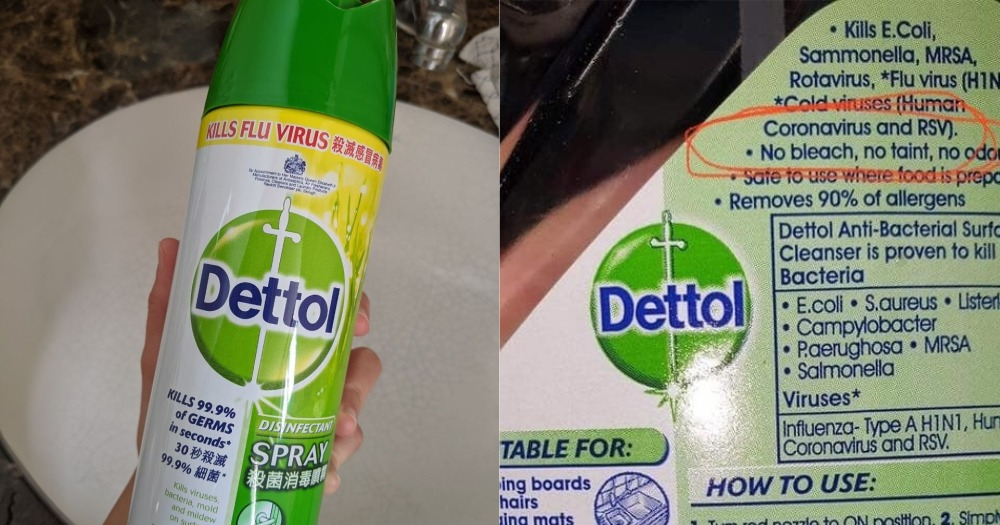 can dettol kill coronavirus