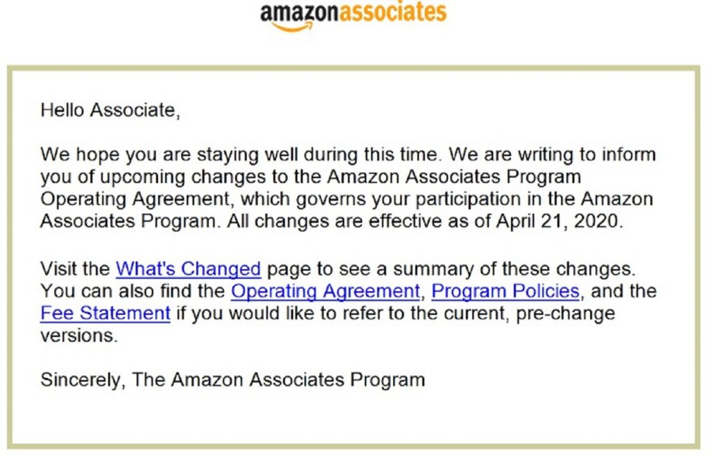 amazon affiliate commission cuts