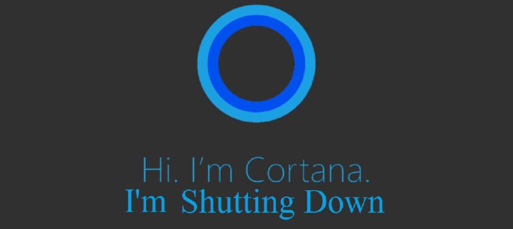 microsoft shutting down cortana